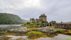 Bridge Castle Eilean Donan Castle Lake Scotland 1920x1080 Wallpaper