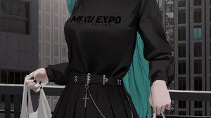 Darrio Hatsune Miku Illustration Looking At Viewer Blue Eyes Aqua Hair Long Hair Vocaloid Anime Girl 1878x3978 Wallpaper