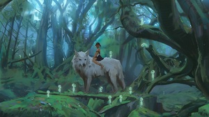 Anime Princess Mononoke 2000x1334 wallpaper