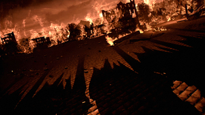 Tales Of Arise 4K BANDAi NAMCO Entertainment Video Game Art Building Burning 3840x2160 Wallpaper