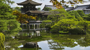 Kyoto Pavilion Pagoda Japan Pond Garden 9408x6272 wallpaper