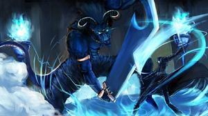 Boy Coat Glowing Eyes Horns Kirito Sword Art Online Sword Sword Art Online Tail The Gleam Eyes Weapo 1516x768 wallpaper