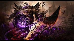 Blade Creature Damned Dark Demon Destruction Evil Fantasy Monster Mythology Necromancy Skeletal Blad 3840x2160 Wallpaper