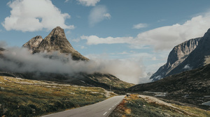 Landscape Road Mountains Clouds Nature Norway 3000x2000 Wallpaper