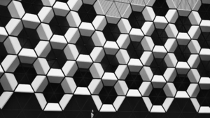 Abstract Geometry Pattern Photography Monochrome Women Model Hexagon Architecture Triangle Mary Buda 2500x1601 Wallpaper