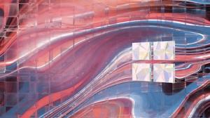 Windows 10 3D Minimalism Digital Art Render In Shapes Logo 3840x2160 Wallpaper