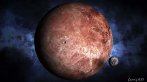 Planet Watermarked 3D Graphics Space 1920x1080 Wallpaper