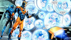 Batman Blue Beetle Dc Comics Booster Gold Dc Comics Flash Green Lantern 2560x1934 Wallpaper