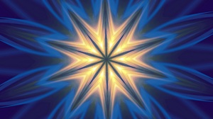 Artistic Blue Digital Art Kaleidoscope Pattern 1920x1280 Wallpaper