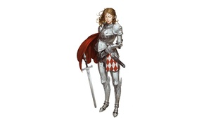 Armor Girl Knight Sword Woman Warrior 4500x2300 Wallpaper