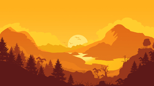 Firewatch Minimalist Nature 1600x900 wallpaper