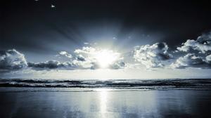 Landscape Horizon Ocean Shoreline 2560x1600 Wallpaper