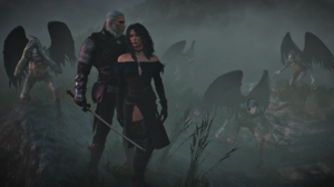 The Witcher The Witcher 3 Wild Hunt Video Games Yennefer Of Vengerberg Geralt Of Rivia 2103x1183 wallpaper