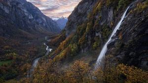 Fall Mountain Nature River Switzerland 1920x1281 Wallpaper