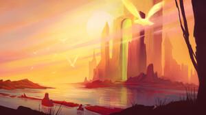 Gaetan Fillardet Digital Art Landscape Fantasy Art 1920x1013 Wallpaper