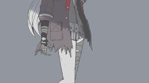 Gray Raven Punishing Gray Raven Anime Pixiv Anime Girls Simple Background Standing 1250x2000 Wallpaper