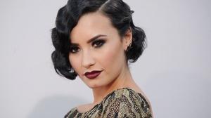 American Black Hair Brown Eyes Demi Lovato Face Lipstick Singer 3000x2000 Wallpaper