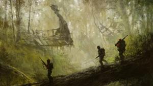 Artistic Kong Skull Island Soldier 1920x1152 wallpaper