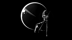 Gort The Day The Earth Stood Still Fan Art Science Fiction Digital Black White 1920x1080 Wallpaper