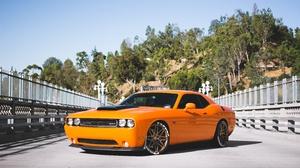Dodge Challenger Dodge Car Orange Car Muscle Car 5959x4051 wallpaper
