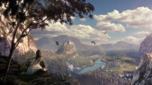 Landscape Magic Mountain City 1600x900 Wallpaper