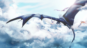 Cloud Dragon 3525x1701 wallpaper
