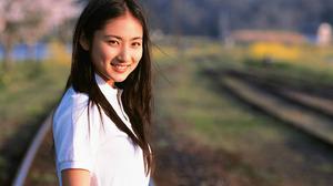 Women Actress Singer Women Outdoors Japanese Women Asian Railway Long Hair Looking At Viewer 1440x1048 Wallpaper