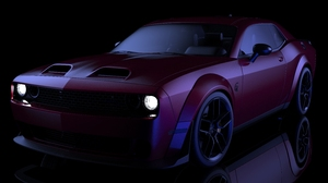 Dodge Challenger Hellcat Dodge Challenger Hellcat Widebody Car 3D Graphics Vehicle Muscle Cars Ameri 7680x4852 Wallpaper