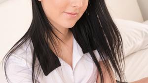 Women Model In Bed Latvian Dark Hair Long Hair 2000x3000 Wallpaper