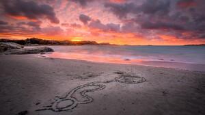 Sky Cloud Beach Ocean Sea Sand 2048x1365 Wallpaper