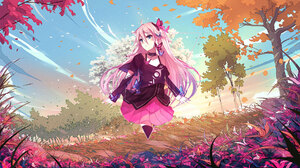 Anime Anime Girls Rose Landscape Picture In Picture Photoshop Triangle Abstract Metalanguage Digital 1920x1080 wallpaper