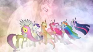 Applejack My Little Pony Fluttershy My Little Pony Pinkie Pie Princess Celestia Rainbow Dash Rarity  1920x1080 Wallpaper