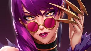 League Of Legends Video Games Evelynn Evelynn League Of Legends Purple Background 3840x2160 Wallpaper