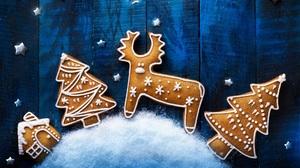Christmas Christmas Tree Cookie Gingerbread Reindeer 1920x1200 Wallpaper