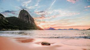 Brazil Cliff Ocean Rio De Janeiro Sand Water 4928x3264 Wallpaper