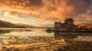 Building Castle Cloud Eilean Donan Castle Lake Landscape Reflection Scotland 2048x1244 Wallpaper