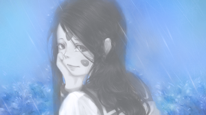 Ah My Goddess 2D Anime Long Hair School Uniform Black Hair Rain Wet Hair Skuld Looking At Viewer Fan 3000x2400 Wallpaper