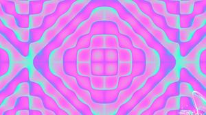 Abstract Artistic Digital Art Geometry Kaleidoscope Pattern Pink Shapes 1920x1080 Wallpaper