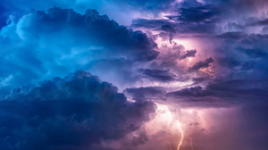 Clouds Storm Lightning Nature Sky Time Lapse 2560x1440 Wallpaper