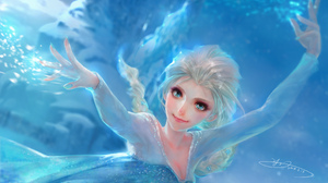 Frozen Movie Elsa Frozen Snow 2400x1468 Wallpaper