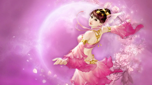 Fantasy Flower Girl Pink Planet Woman 2560x1600 Wallpaper