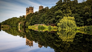 Building Cathedral Durham Cathedral England Reflection River 3840x2160 Wallpaper