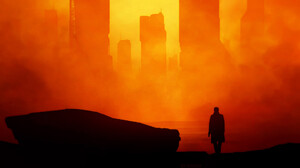 Blade Runner 2049 Building City Futuristic Silhouette Orange Color 1920x1080 Wallpaper