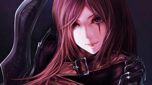 Anime Blue Eyes Girl Katarina League Of Legends Weapon 2800x1575 Wallpaper