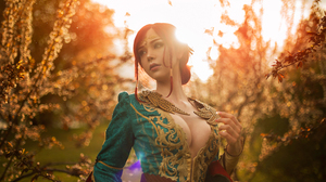 Sayathefox Women Model Cosplay Redhead Tiaras Triss Merigold The Witcher Video Games Video Game Girl 6000x4000 Wallpaper