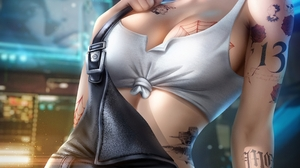 Judy Alvarez Cyberpunk 2077 Video Games Video Game Girls Women Short Hair Side Shave Dyed Hair Looki 4800x7200 Wallpaper