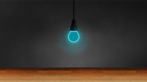 Minimalism Light Bulb Dark Simple Simple Background Cyan Abstract Digital 1920x1080 Wallpaper