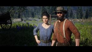 John Marston Red Dead Redemption 2 PlayStation 4 Gunslinger Abigail Marston Video Games Screen Shot  1920x1080 Wallpaper
