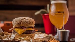 Beer Burger Still Life 2048x1337 Wallpaper