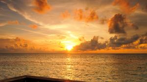 Cloud Earth Horizon Maldives Sky Sunset 2581x1720 Wallpaper